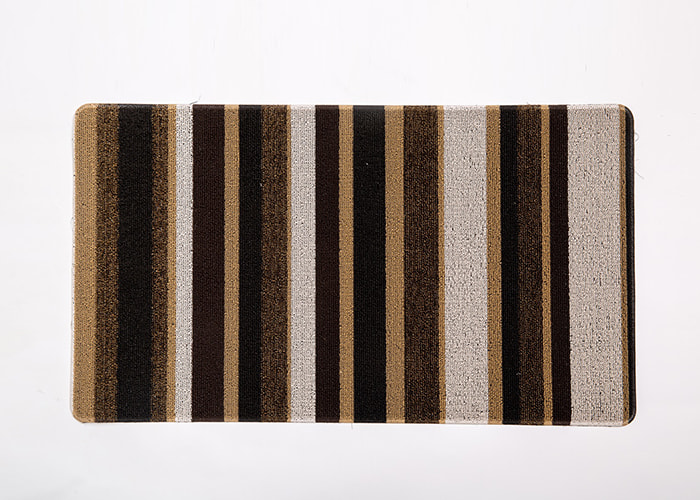 Plain Style Striped Pattern Tufted Mat