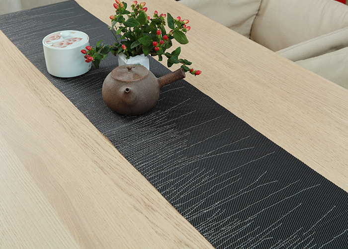 Modern Embroidery Style Long Heat-Resistant Table Runner