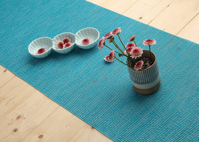 Blue Cotton Simple Table Runner